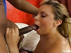 Long black boner fucks white girl with a sexy smile tubes