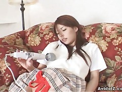 Japanese teen fucked deep in her shaved pussy uncensored tubes