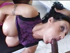 Interracial threesome for slutty big tits mom tubes