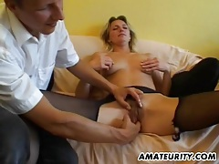 Amateur girlfriend gets toyed and fucked by 2 guys tubes