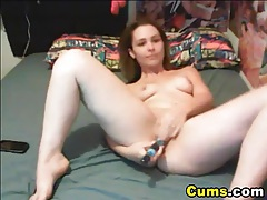 Horny babe sucks her dildo and drills her pussy hd tubes