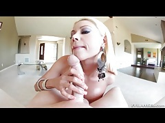 Bleach blonde milf gives him a hot titjob tubes