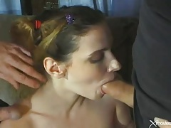Babysitter double penetration and bukkake fun tubes