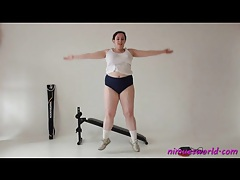 Fat girl works out hard and looks good tubes