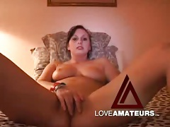 Masturbating and giggling cute amateur brunette tubes
