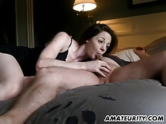 Hot amateur gf sucks and fucks with creampie cumshot tubes