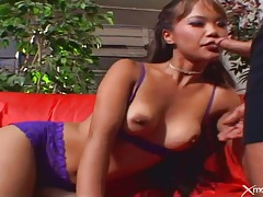 Lean asian fucked in her tight shaved pussy tubes