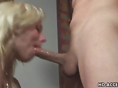 Blonde pornstar gets face full of deepthroat spunk tubes