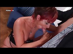 Pump on her mature cunt as she takes cock in ass tubes