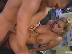 Beautiful sex with a sultry blonde from behind tubes