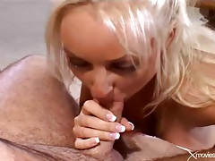 Wife takes a cock and cumshot as husband looks on tubes