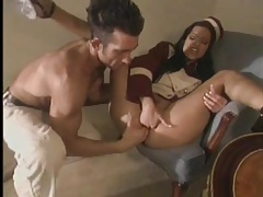 Horny bellhop eaten out and sucking a big cock tubes