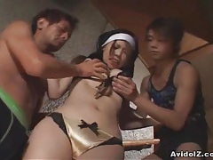 Japanese babe forced to suck cock uncensored tubes