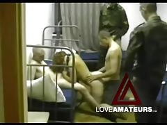 Slut in the barracks gangbanged by military guys tubes