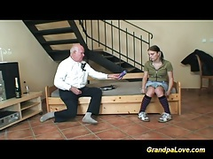 Old grandpa fucking young babe tubes