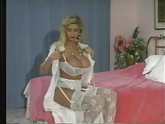 Lipstick and white lingerie on a glamorous babe tubes