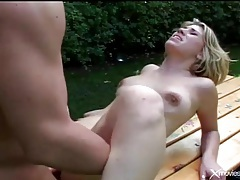 Fucking a tattooed squirter outdoors is hot tubes