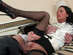 Satin blouse and short skirt on a fucked girl tubes