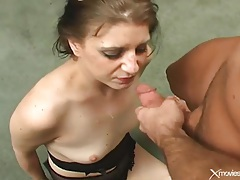Making her gag with a throat banging tubes