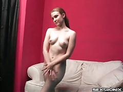 Amateur gets naked and spreads pussy lips tubes