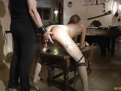 Cayenne klein fucked in submission tubes