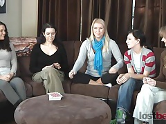 Strip screw-your-neighbor with zayda, lucretia, ashley, elise, and natalia tubes