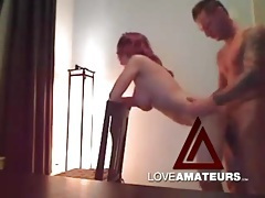 Redhead is hot as hell in doggystyle fuck video tubes