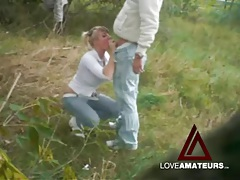 Jeans and white leather boots on girl fucking outdoors tubes
