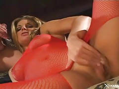 Beautiful porn slut in red fishnets fucked hardcore tubes