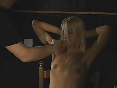 Young blonde erica fontes as slave-girl tubes