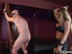 Abusive girl has him eat out her pussy and fuck her tubes