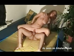 Girl sucking dick and riding it with bald pussy tubes