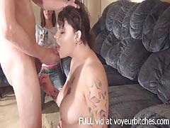 Girl films her friend sucking dick tubes