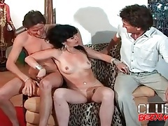 Big cocks blown in beautiful threesome video clip tubes