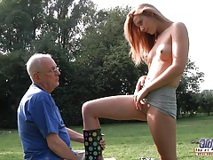 Hot blonde cleaned and fucked by old man tubes
