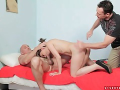 Teenager blows old guy and gets spanked tubes