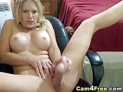 Busty blonde brianna plays her tight pink pussy tubes