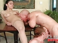 Guy blow each other and fuck this fresh cunt tubes