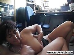 Busty amateur milf sucks and fucks with facial tubes