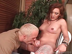Shemale gets head from eager blonde guy tubes