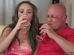 Old guy is hot as hell for this young lady tubes