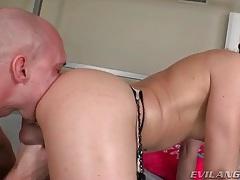 Tgirl takes sexy bareback ride on hard cock tubes