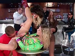 Fucking fully clothed sluts in the bar tubes