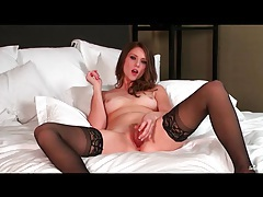 Glamorous solo stockings girl shae snow stuns tubes