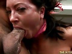 Gagging throat fuck makes this bitch choke tubes