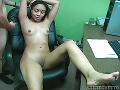 Office footjob from cute nerdy girl tubes