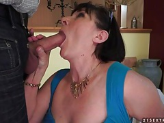 Chubby mature in stockings bent over for sex tubes