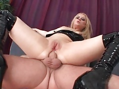 Shiny black latex on anal hardcore slut tubes