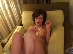 Naked girl in hotel room with sexy little tits tubes