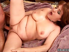 Chubby old lady wants stiff cock in her cunt tubes